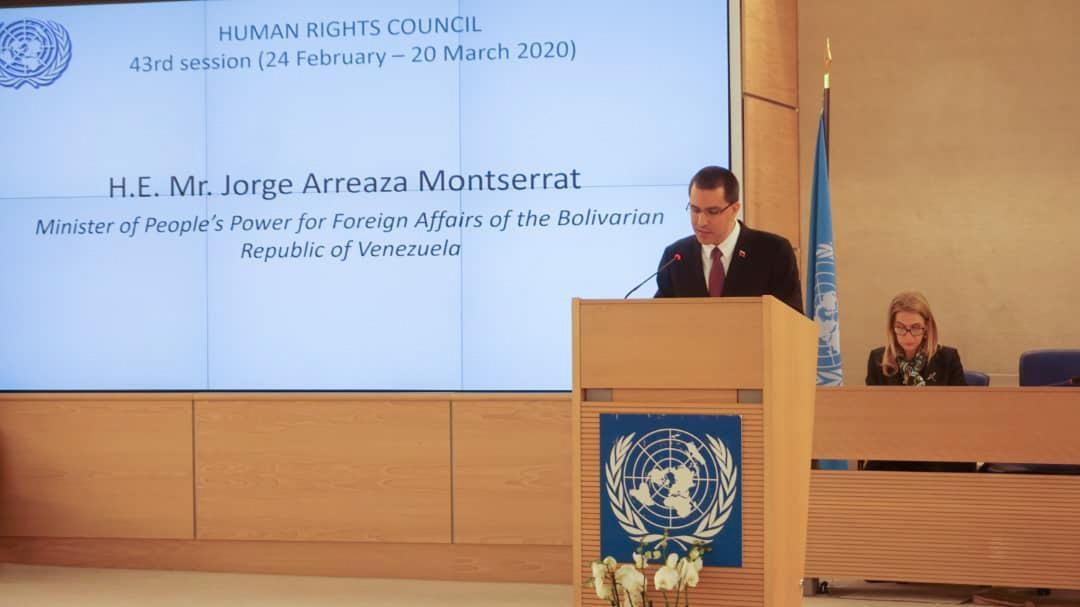 Venezuela llama al Consejo de DDHH de la ONU a condenar medidas de EEUU