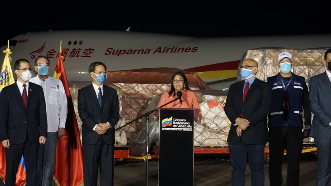 Sexto avión con ayuda humanitaria llega a Venezuela proveniente de China