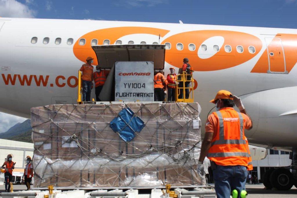 Más de 15 toneladas de insumos médicos contra Covid-19 envió China a Venezuela