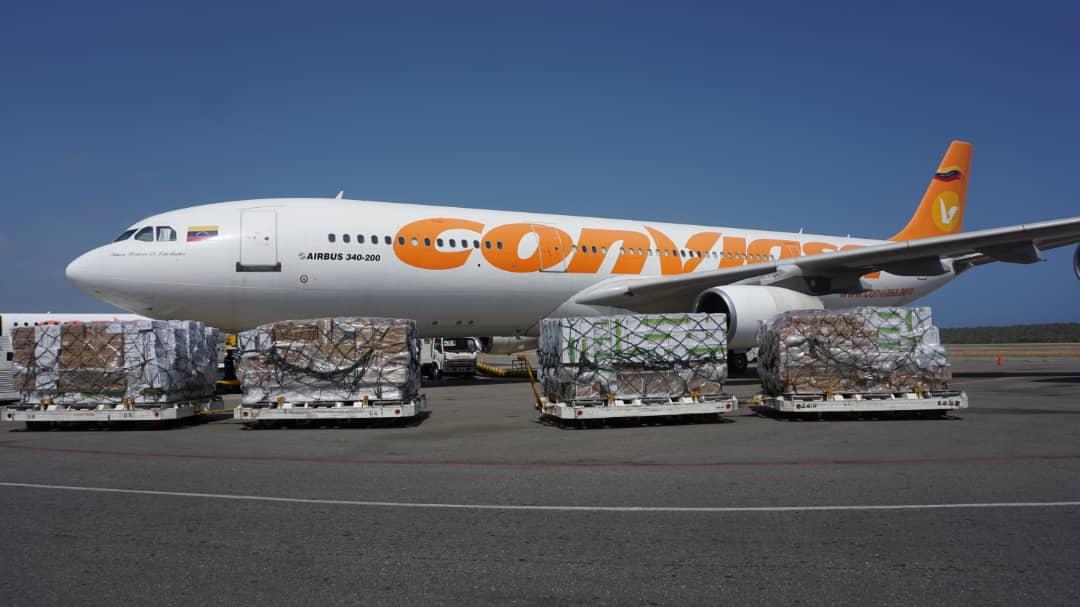 25 toneladas de insumos médicos llegaron al país provenientes de China